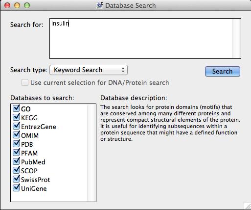 Figure 2.86:  Keyword databases available