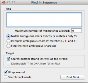 Figure 2.90:  The Find Sequence Dialog