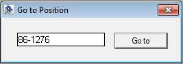 Figure 2.88:  Go to Position Dialog